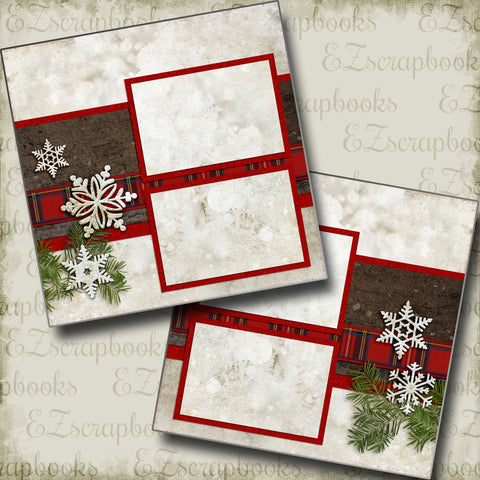 Winter Season - 5166 - EZscrapbooks Scrapbook Layouts Christmas, Snow, Winter