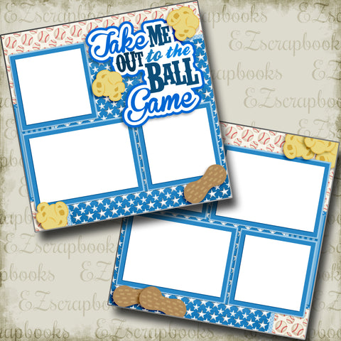 Take Me Out to the Ball Game Blue - 3228 - EZscrapbooks Scrapbook Layouts baseball, Sports