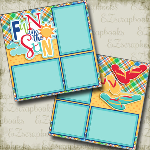 Fun in the Sun - 3370 - EZscrapbooks Scrapbook Layouts Summer, Swimming - Pool