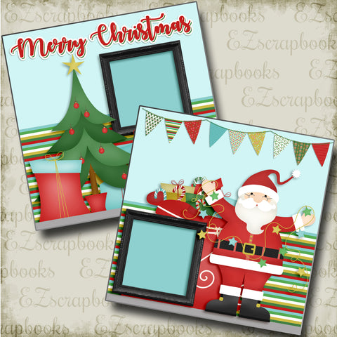 Merry Christmas - 4456 - EZscrapbooks Scrapbook Layouts Christmas