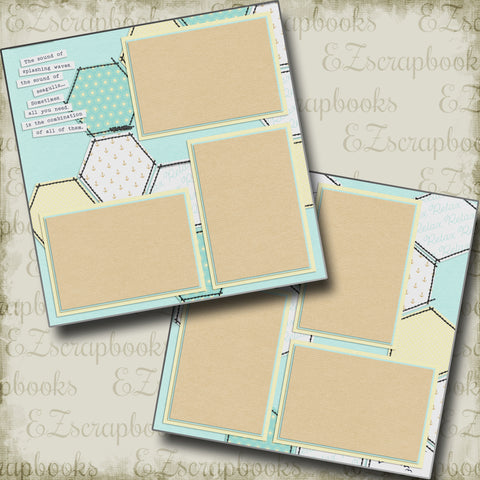 Just Relax - 5322 - EZscrapbooks Scrapbook Layouts Beach - Tropical, Vacation