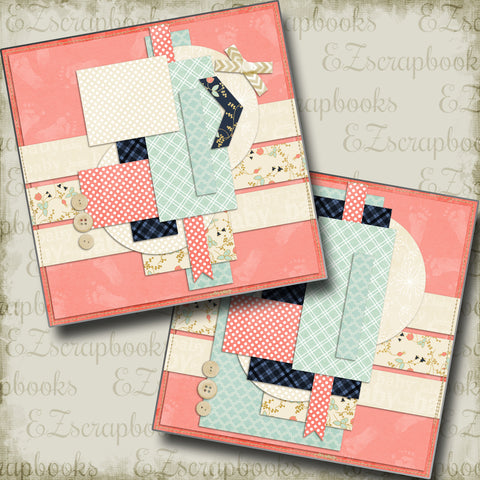 Little Things Girl NPM - 5117 - EZscrapbooks Scrapbook Layouts Baby, Girls, Other