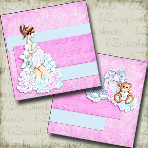 Expecting NPM - 5047 - EZscrapbooks Scrapbook Layouts Baby, Baby / Bridal Shower, Pregnancy