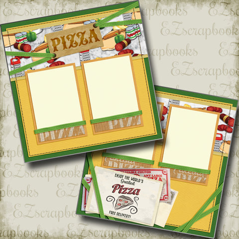 World's Greatest Pizza - 5308 - EZscrapbooks Scrapbook Layouts Foods, pizza