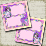 Unicorns - 5050 - EZscrapbooks Scrapbook Layouts Girls, Other