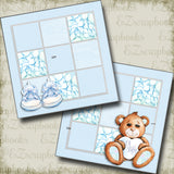 Oh Baby Boy Bear NPM - 5045 - EZscrapbooks Scrapbook Layouts Baby