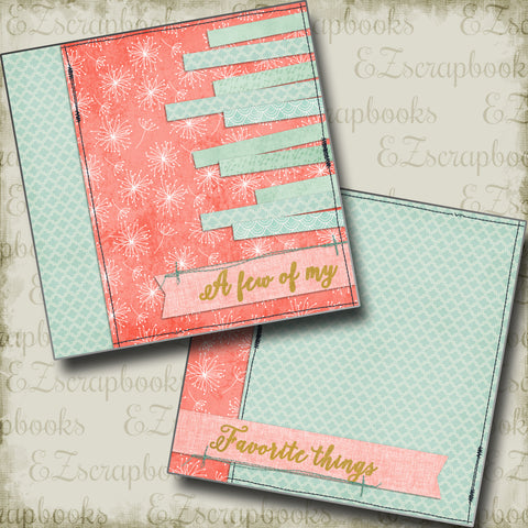 Favorite Things Girl NPM - 5110 - EZscrapbooks Scrapbook Layouts Baby, Girls, Other