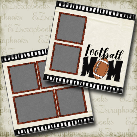 Football Mom - 4812 - EZscrapbooks Scrapbook Layouts football, Sports