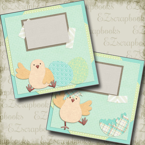 Hatched Chick - 5246 - EZscrapbooks Scrapbook Layouts Spring, Spring - Easter