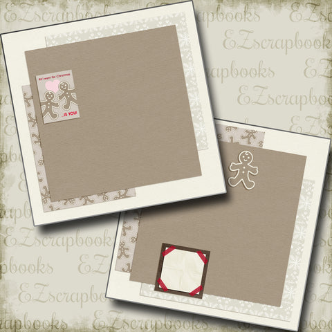 All I Want For Christmas NPM - 5193 - EZscrapbooks Scrapbook Layouts Christmas