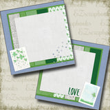 Love Green NPM - 4757 - EZscrapbooks Scrapbook Layouts St Patrick's Day