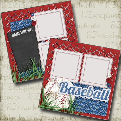Baseball Line-Up - 4506 - EZscrapbooks Scrapbook Layouts baseball, Sports