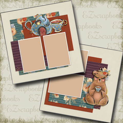 Sips of Fall - 5014 - EZscrapbooks Scrapbook Layouts Fall - Autumn