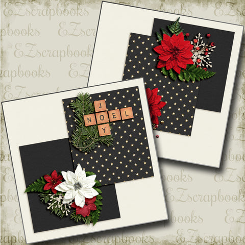 Joy Noel NPM - 4445 - EZscrapbooks Scrapbook Layouts Christmas