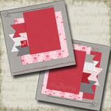 Stitches of Love NPM - 5241 - EZscrapbooks Scrapbook Layouts love, Love - Valentine