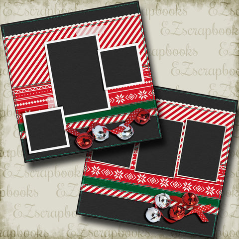 Jingle Bells - 5160 - EZscrapbooks Scrapbook Layouts Christmas, Snow, Winter