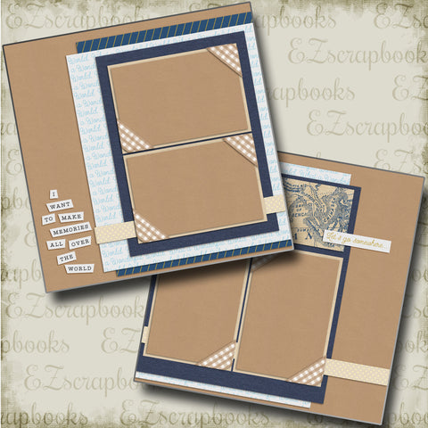 Let's Go Somewhere - 4742 - EZscrapbooks Scrapbook Layouts travel, Vacation