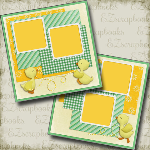 Duckies at Play - 5252 - EZscrapbooks Scrapbook Layouts Baby - Toddler, Spring - Easter