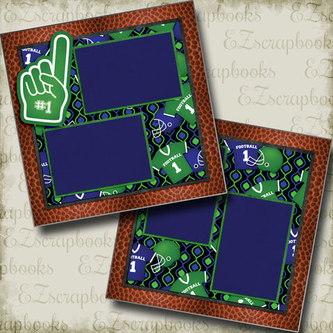 Game Night - 5274 - EZscrapbooks Scrapbook Layouts football, Sports