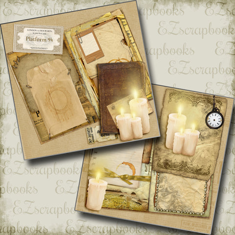 Wizarding Candles NPM - 5207 - EZscrapbooks Scrapbook Layouts Halloween, Harry Potter
