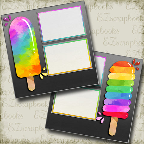 Frozen Treats - 4860 - EZscrapbooks Scrapbook Layouts Summer