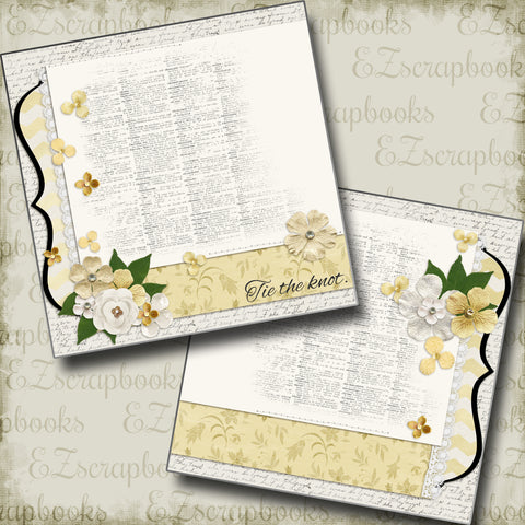 The Wedding One NPM - 5122 - EZscrapbooks Scrapbook Layouts Wedding