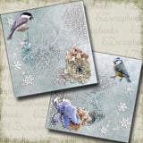 Winter Birdies NPM - 5287 - EZscrapbooks Scrapbook Layouts Snow, Winter