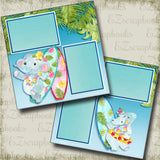 Beach Party - 4858 - EZscrapbooks Scrapbook Layouts Beach - Tropical, Swimming - Pool
