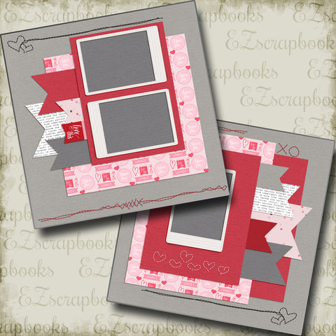 Stitches of Love - 5240 - EZscrapbooks Scrapbook Layouts love, Love - Valentine