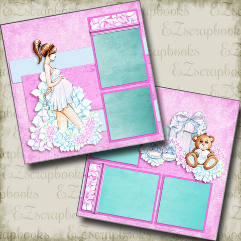 Expecting - 5046 - EZscrapbooks Scrapbook Layouts Baby, Baby / Bridal Shower, Pregnancy