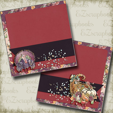 It's Thanksgiving NPM - 5017 - EZscrapbooks Scrapbook Layouts Thanksgiving