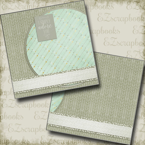Simply Adore Boy NPM - 5095 - EZscrapbooks Scrapbook Layouts Baby, Boys, Other