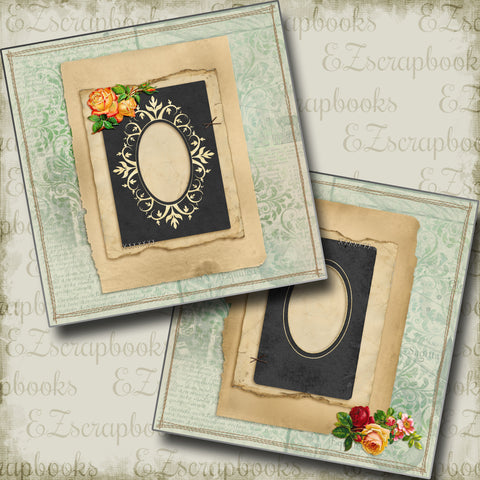 Vintage Lady - 5294 - EZscrapbooks Scrapbook Layouts Heritage, Vintage