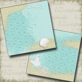 Seagull With A French Fry NPM - 5339 - EZscrapbooks Scrapbook Layouts Beach - Tropical, Vacation