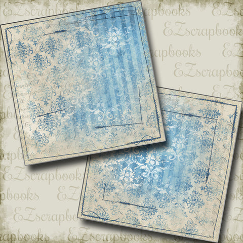 Distressed Blue NPM - 5297 - EZscrapbooks Scrapbook Layouts Girls, Vintage