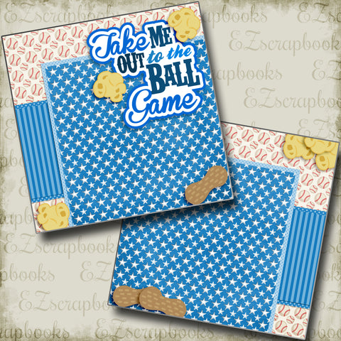 Take Me Out to the Ball Game Blue NPM - 3229 - EZscrapbooks Scrapbook Layouts baseball, Sports