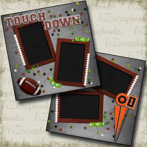 Touch Down - 4486 - EZscrapbooks Scrapbook Layouts football, Sports