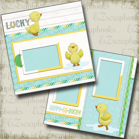 Happy Go Ducky - 4736 - EZscrapbooks Scrapbook Layouts Baby, St Patrick's Day, Swimming - Pool