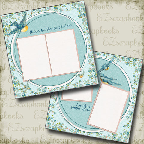 Blue Skies - 4388 - EZscrapbooks Scrapbook Layouts Other, Spring - Easter, Summer