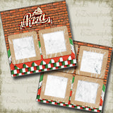 Brick Wall- Pizza - 5310 - EZscrapbooks Scrapbook Layouts Foods, pizza