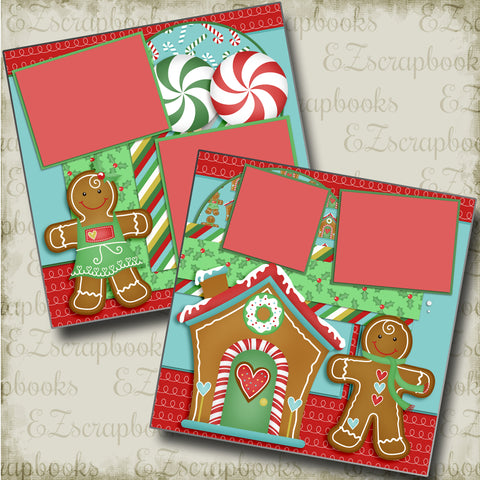 Gingerbread Fun - 4454 - EZscrapbooks Scrapbook Layouts Christmas