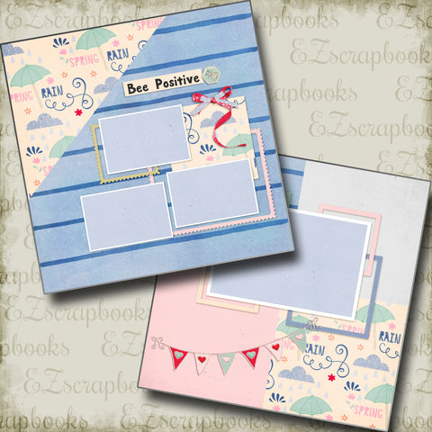 Bee Positive - 4752 - EZscrapbooks Scrapbook Layouts Other