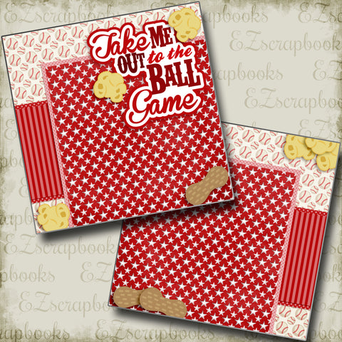 Take Me Out to the Ball Game Red NPM - 3235 - EZscrapbooks Scrapbook Layouts baseball, Sports