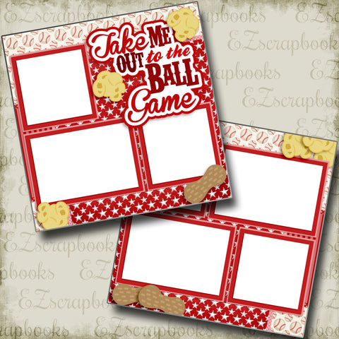 Take Me Out to the Ball Game Red - 3234 - EZscrapbooks Scrapbook Layouts baseball, Sports