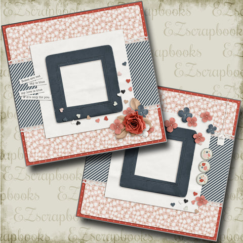 Roses Are Red - 4680 - EZscrapbooks Scrapbook Layouts Love - Valentine, Other