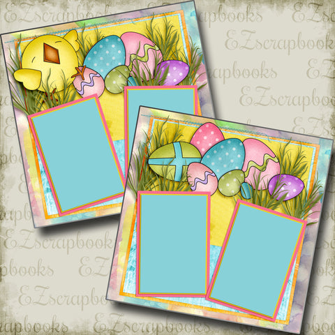 Easter Joy - 3884 - EZscrapbooks Scrapbook Layouts Spring - Easter