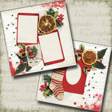 Retro Christmas Stocking - 5182 - EZscrapbooks Scrapbook Layouts Christmas