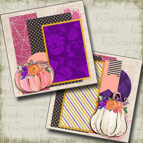 Pretty Pumpkins NPM - 5057 - EZscrapbooks Scrapbook Layouts Fall - Autumn, Halloween