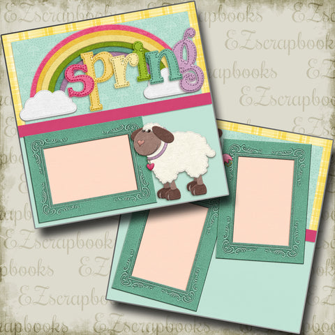 Spring Lambs - 5248 - EZscrapbooks Scrapbook Layouts Spring, Spring - Easter