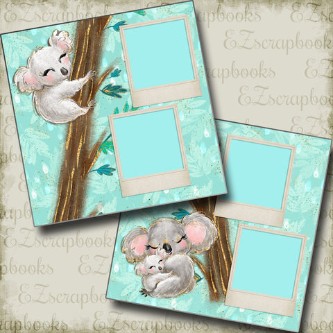Koala Mama - 5026 - EZscrapbooks Scrapbook Layouts Baby, Baby / Bridal Shower, Pregnancy